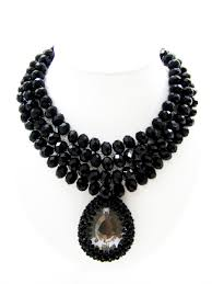 black fashion jewelry necklace images Back in black fashion necklace thai fashion jewelry JPG