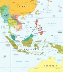 Asia Map by Southeast Asia Map Highly Detailed Vector Illustration Royalty