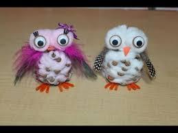 snowy pinecone owl craft version tutorial homeschool
