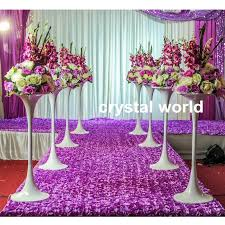 Tall Centerpiece Vases Wholesale Elegant Beautiful Silver Flower Bowl Silver Flower Vase For