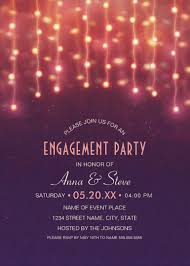Unique String Lights by String Lights Engagement Party Invitations U2013 Creative Couples