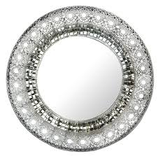 Mirrored Wall Decor by Amazon Com Lulu Decor Oriental Round Silver Metal Beveled Wall