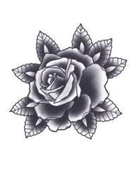 black rose temporary tattoo realistic fake tattoo fake tattoos