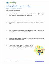 printable worksheets in math for grade 4 4th grade word problem worksheets printable k5 learning