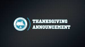 cfaac thanksgiving announcement
