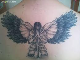 21 guardian angel tattoos on back