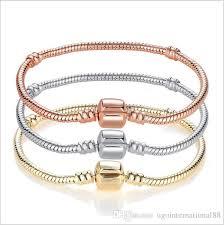 silver gold plated bracelet images Wholesale rose gold 18k gold plated bracelets 3mm snake chain jpg