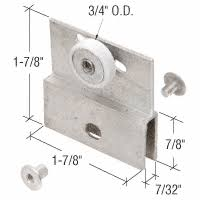 Shower Glass Door Parts Chrome 3 4 Bearing Shower Door Flat Edge Roller