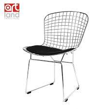 chaise m tallique fil métallique côté chaise avec coussin de siège de haute qualité
