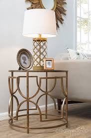 brass and glass end tables bohemian sofia antique brass metal glass round side table