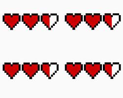 doodlecraft legend of zelda heart containers love notes