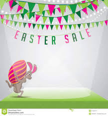 easter egg sale easter sale bunny egg and bunting background eps 10 vector stock
