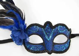 blue masquerade masks blue masquerade masks for women with feathers masquerade mask
