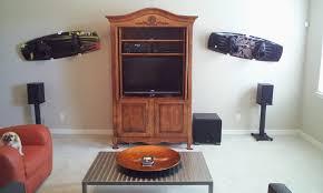 amazon com snowboard wakeboard wall mount display rack hanger