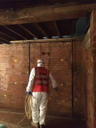 commercial basement waterproofing at a national heritage