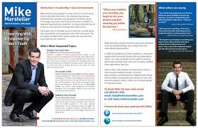 professional speakers one sheet and graphic design services