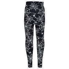 girls halloween legging spider web skull print leggings fancy
