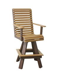 Swivel Bar Stool Creekside Poly Swivel Bar Chair From Dutchcrafters Amish Furniture
