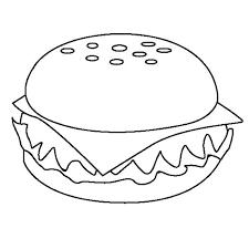 appetizing cheeseburger junk food coloring page download u0026 print