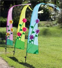 set of three light up garden flags hearthsong