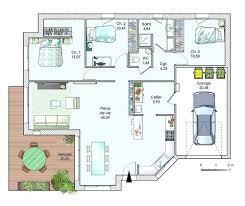 plan maison de plain pied 3 chambres plan maison plain pied 3 chambres 100m2 cool plan maison plain pied