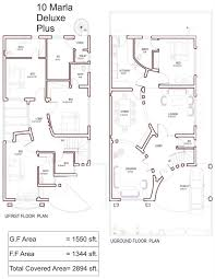 plan house 10 marla house plan with basement list disign drawings luxihome