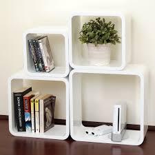 high gloss white bookcase dekorkube s4 gloss white set of 4 u2013 the shelving shop