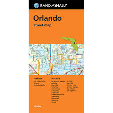 Florida Map Orlando by Folded Map Orlando Street Map