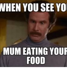 Flute Memes - when you see yo mum eating your food anchorman flute meme on me me