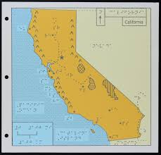 Map O A Map Of California For The Blind Kcet