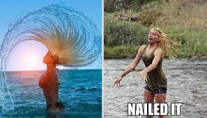 Hair Flip Meme - hair flip nailed it funny