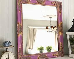 Shabby Chic Large Mirror by Leaning Mirror Etsy