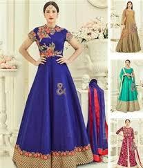 wholesale catalog of embroidered designer dresses in art silk mex