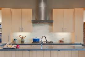 crackle subway tile kitchen contemporary with flat panel cabinets