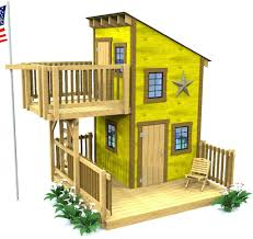 deluxe loft clubhouse plan playhouses and porch