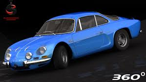 2017 alpine a110 interior alpine a110 1973 3d model