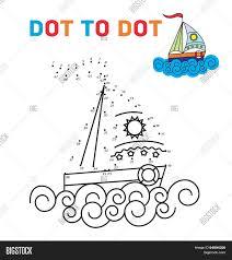 coloring book dot dot boat vector u0026 photo bigstock
