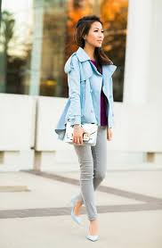 light blue trench coat spring combos with pastel trench coats street swag