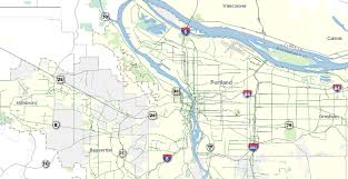 Map Of Hillsboro Oregon by For Ninth Edition Of Bike There Map Metro Chops Print Price To 6