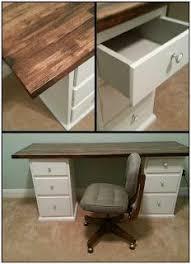 Easy Diy Desk Pottery Barn Inspired Desk Using Goodwill Filing Cabinets