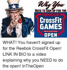 Crossfit Open Meme - 25 best memes about reebok crossfit reebok crossfit memes