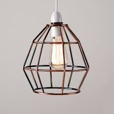industrial style ceiling lights copper metal wire frame cage ceiling pendant light l shades