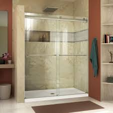 Shower Doors Reviews Dreamline Essence 44 In To 48 In X 76 In Semi Frameless Sliding