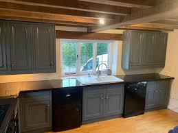 spray paint kitchen cabinets hertfordshire no ordinary kitchen painter in blakesley northtonshire