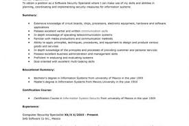 It Security Resume Software Security Specialist Resume Creative Student Resume
