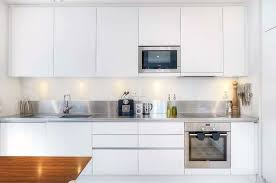 Kitchen Design With White Cabinets Mesmerizing Modern White Kitchen Cabinets Marvelous Modest Design