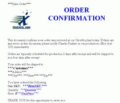 Order Confirmation Template by Order Confirmation Templates Word Excel Sles