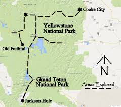 Map Of Yellowstone National Park 4 Day 3 Night Grand Teton U0026 Yellowstone Wildlife Tour