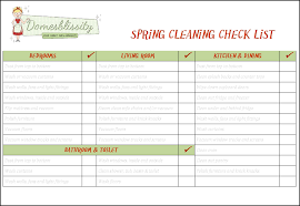 spring cleaning checklist free printable domesblissity
