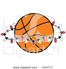 Red And White Christmas Lights Clipart Of A Basketball With Red And White Christmas Lights